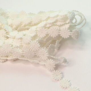 Photography of 12mm White Austrian Daisy Applique Cotton Lace Trim