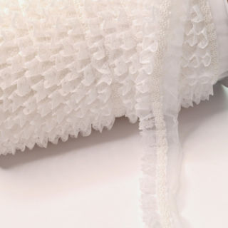 Photography of 25mm Beaded White Lace Trim
