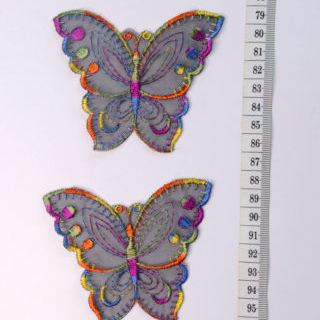 Photography of Embroidered Patch - Large Colourful butterfly