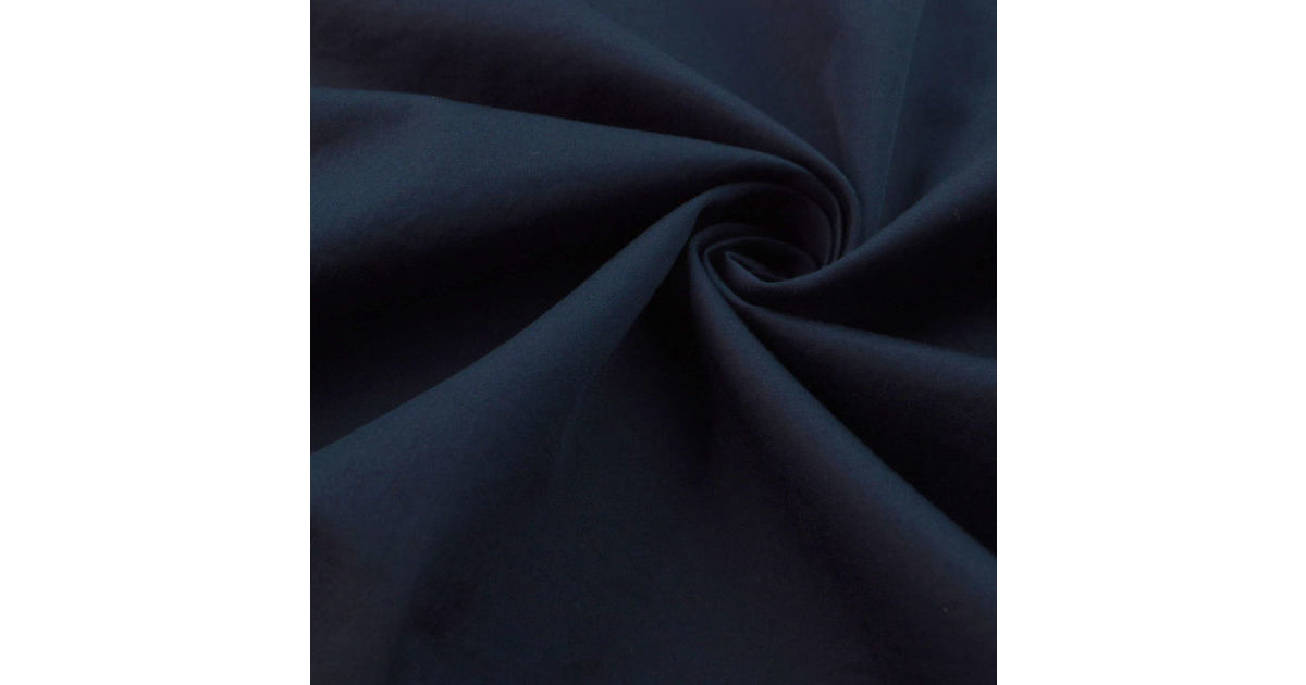 Combed Cotton Dressmaking Fabric In Deep Navy
