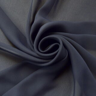 Photography of Georgette Dress Fabric - Dark Navy