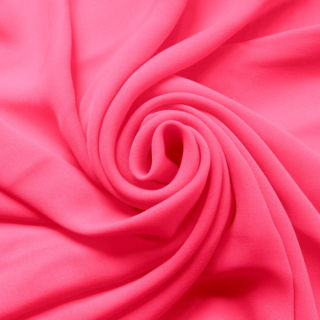 Photography of Georgette Dress Fabric - Neon Pink