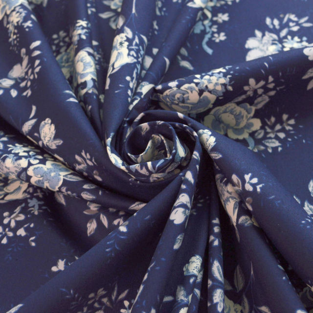 Designer Soft Satin Print Floral Multicolour Dress Craft Fabric