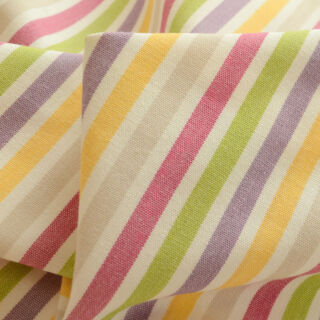 Photography of All Is Safely Gathered In - Cerise -Multi Coloured Stripes