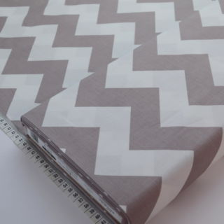 Photography of Riley Blake - Mega Chevron - Grey