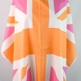 Photography of Riley Blake - Union Jack Flag - Pink, Orange & White