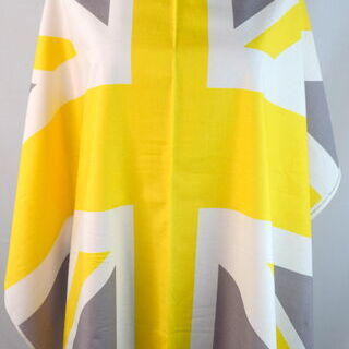 Photography of Riley Blake - Union Jack Flag - Yellow, Grey & White