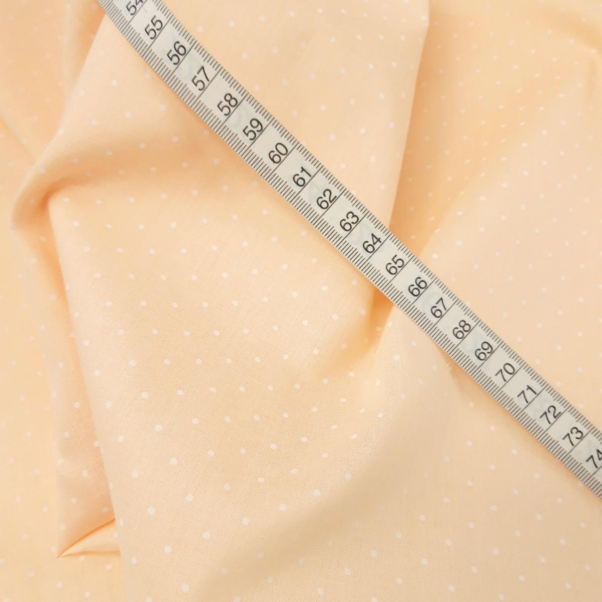 Dalston Mill Fabrics Polycotton Fabric Peach 1m