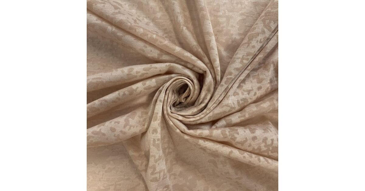 Fine Polyester Camo Jersey - Nude