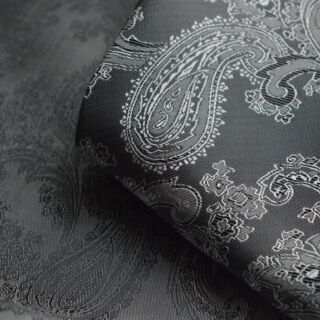 Photography of Paisley Changeant Linings - Grey