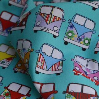 Photography of Poplin Print - VW Camper Van