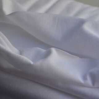 Photography of Cotton Jersey - White - Roll 3.82 m set piece