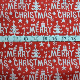 Photography of Christmas Poly/cotton - Merry Christmas- Red