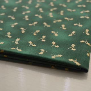 Photography of Clothworks - All Wrapped Up - Holly Green and Gold