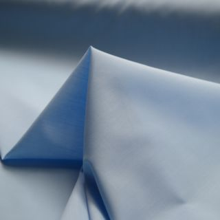 Photography of Superior Quality Plain Poly/Cotton - Pale Blue