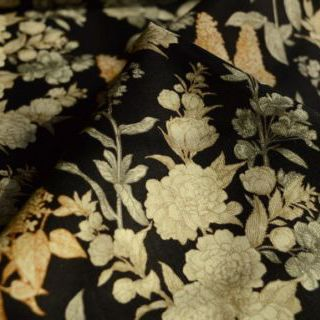 Photography of Benartex- Sew Vintage- Floral-Black