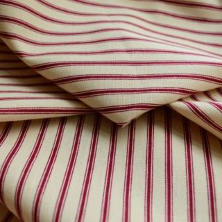 Photography of Cotton Canvas - Ticking - Red