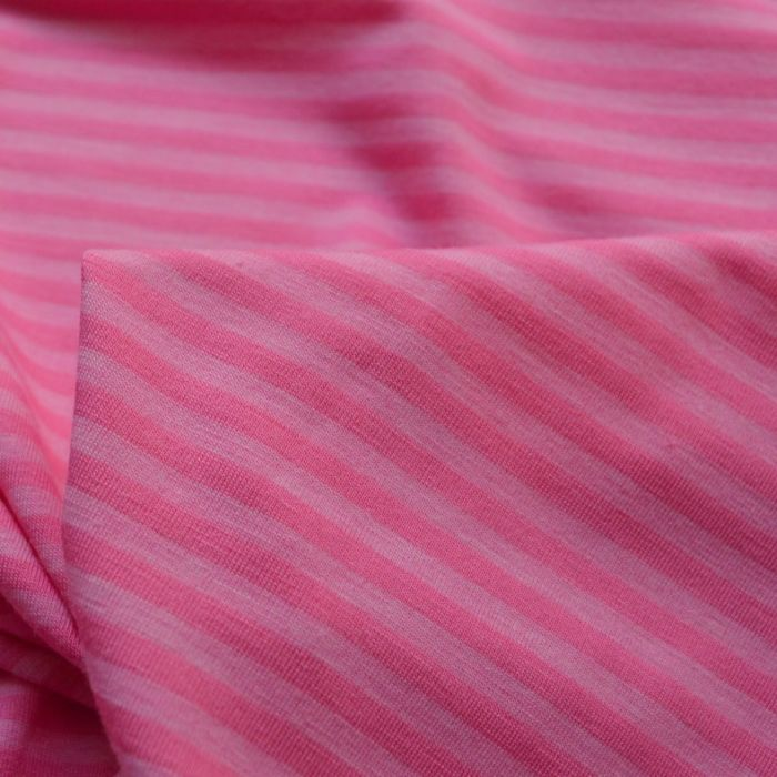 Viscose Jersey - Miss Dolly - Pink Stripe -cu
