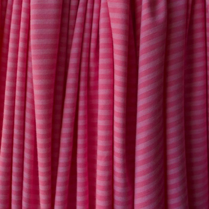 Viscose Jersey - Miss Dolly - Pink Stripe -d