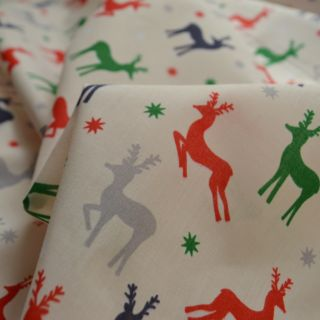 Photography of Christmas Polycotton - All The Reindeer
