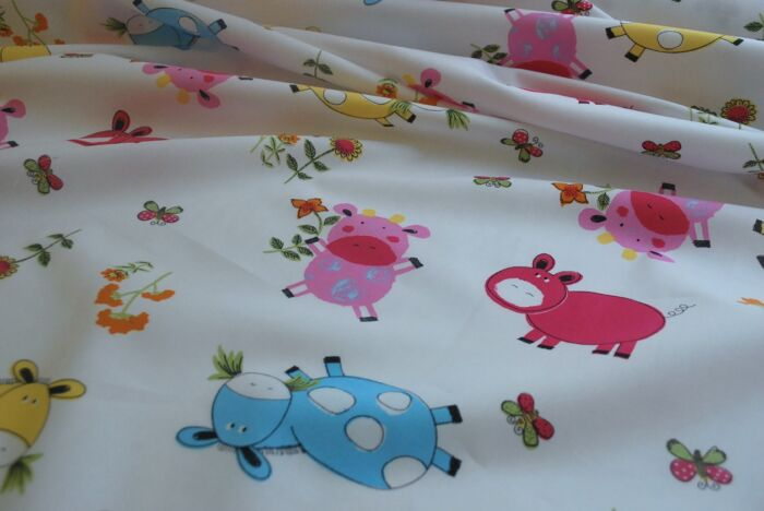 Old Macdonald - Childrens Farmyard Cotton Fabric