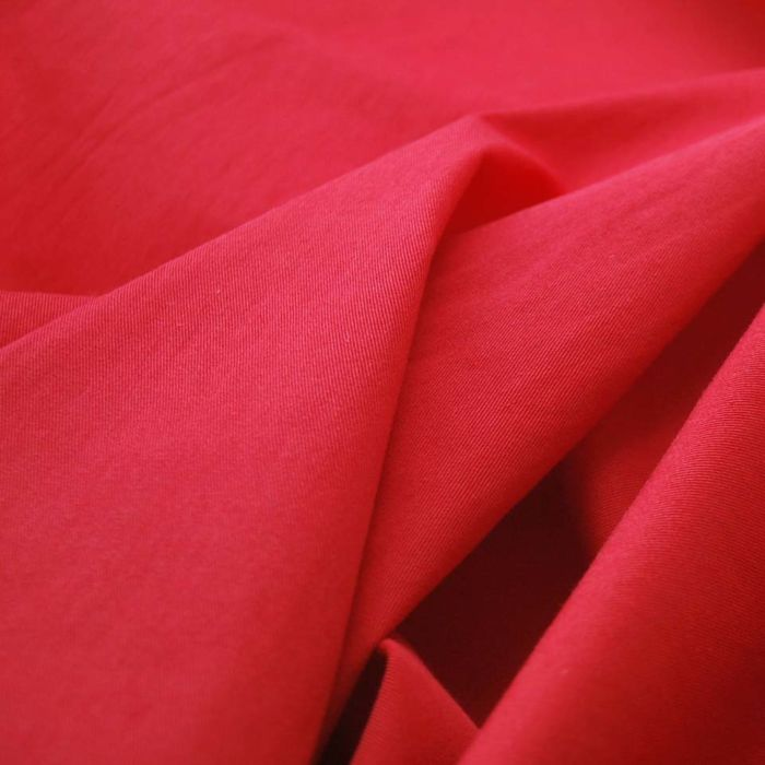 Cherry Ripe - Red Cotton Gabardine
