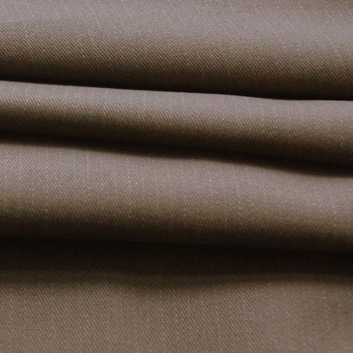 Pindrop - Pale Brown Cotton Stripe Suiting Fabric - cu