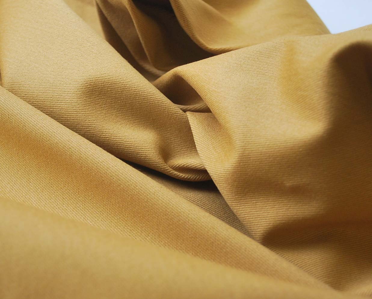 Spandau - Gold Sanded Cotton Chino Fabric - cu