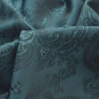 Photography of SET PIECE 1M Paisley Changeant Linings - Slate Grey