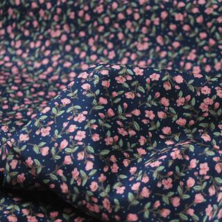 Photography of Poplin Prints - Tiny Rose Navy