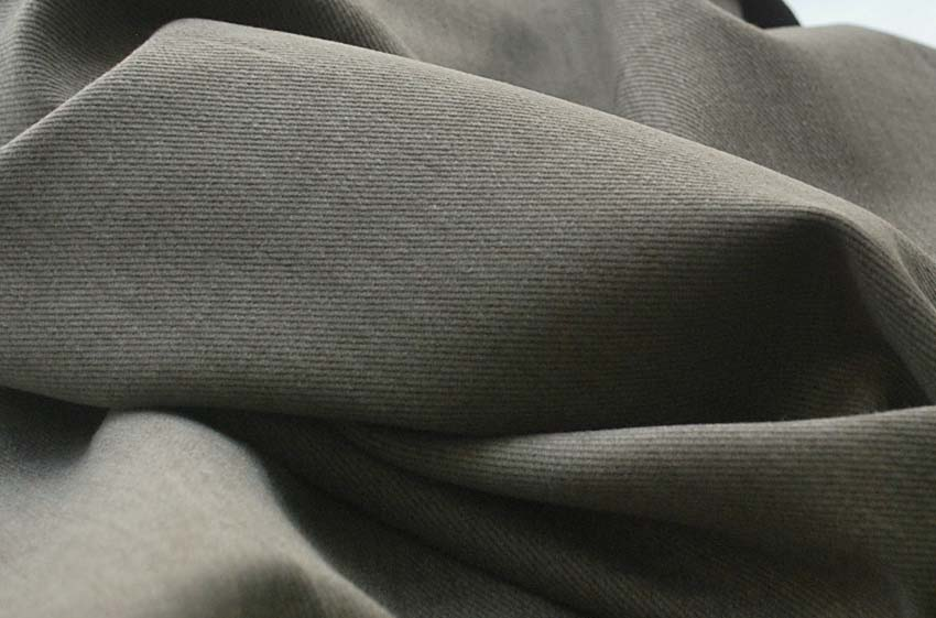 Fatigue - Brushed cotton olive green trousering - cu