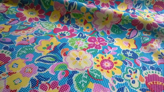 Flower Power- Bright Multicoloured Floral- d