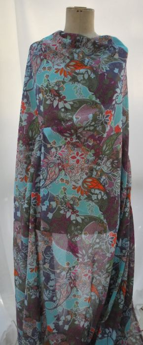 OAP cotton lawn dress fabric abstract paisley m f
