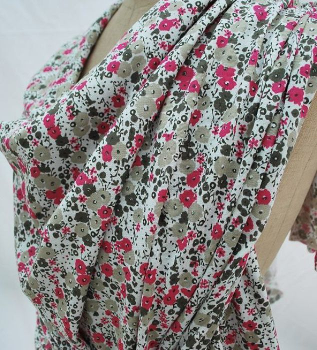 Printed Jersey Dress fabric Floral m