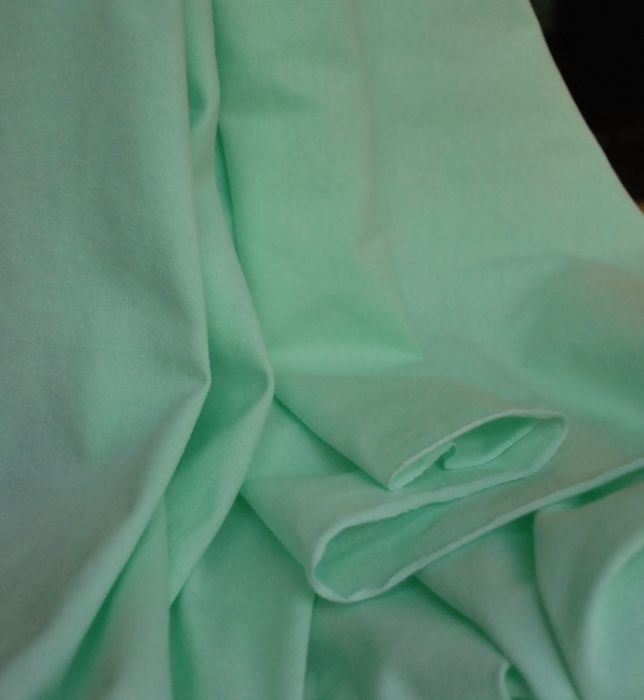 Cotton Jersey pale mint green