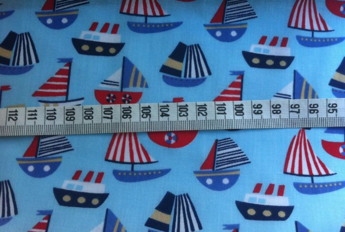 Poly Cotton Print with Boats Columbo
