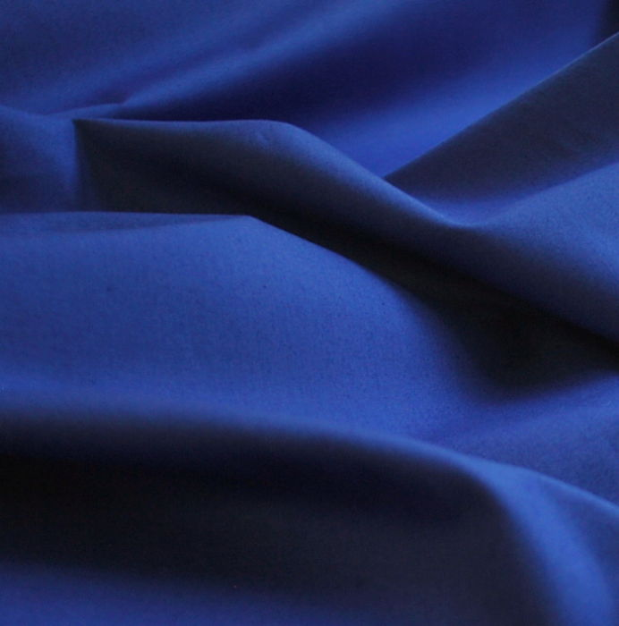 Royal Cotton Fabric- Plain Dyed Poplin- royal- CU