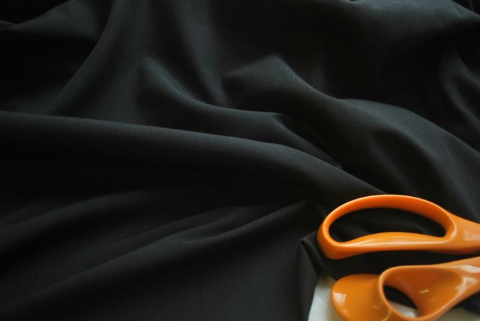 Wall Covering - Black poly cotton fabric -