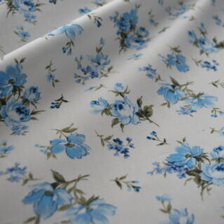 Photography of Poplin Prints - English Rose - Blue