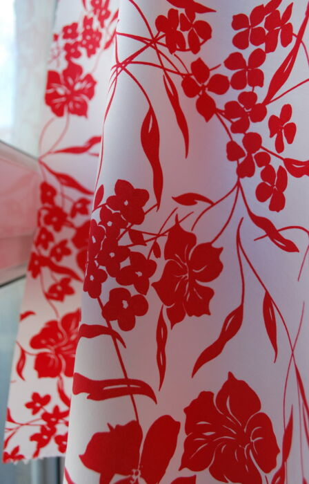 Strike Me - Its Red - Cotton Lycra Dress Fabric