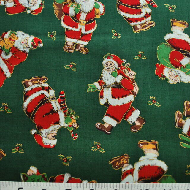 Christmas Prints_Father Christmas Fabric