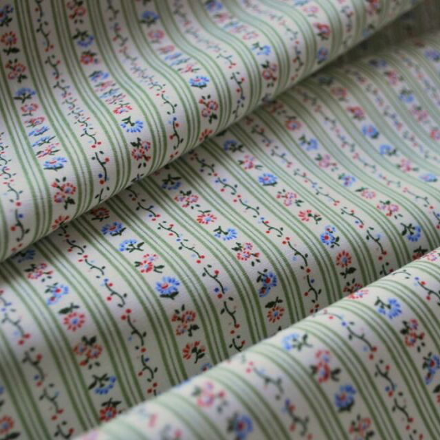 Photography of Poplin Prints - Pretty Pinstripe - Green