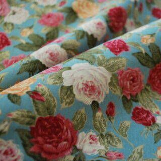 Photography of Poplin Prints - Say it with flowers Green