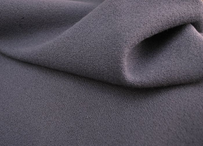 Heavy Woollen Lilac Crepe Fabric