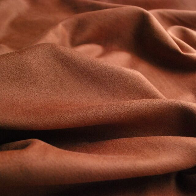 Faux suede_dress fabric_deep tan
