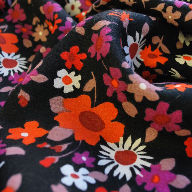 Vintage fabric_Edie_black floral_close up
