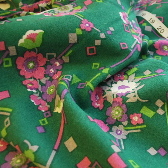 Vintage fabric_Peggy_green floral_cu
