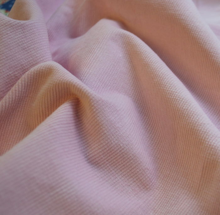 Baby Pink Cotton Stretch Needlecord