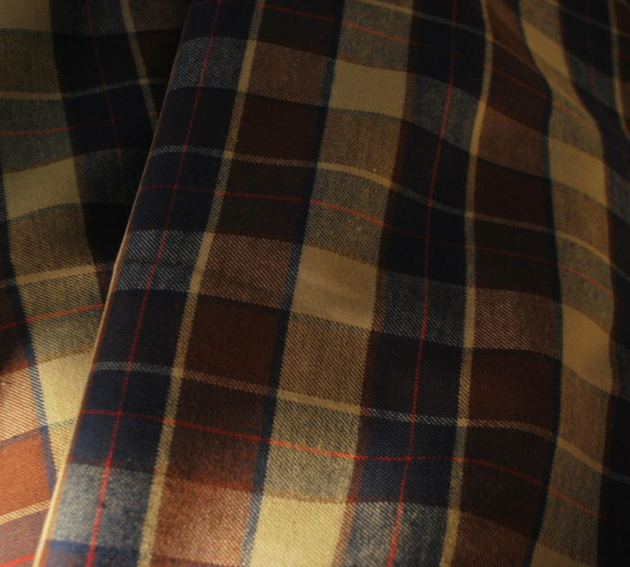 Flannel Cotton flannel shirting Navy Brown Beige