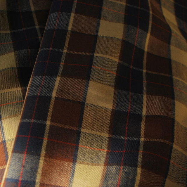 Flannel_Cotton flannel shirting_Navy Brown Beige